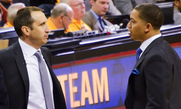David_Blatt_and_Tyronn_Lue_on_Jan_25,_2015
