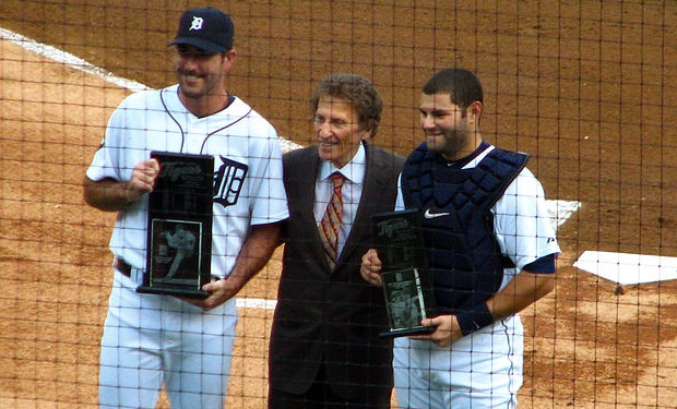 Justin_Verlander,_Mike_Ilitch_and_Alex_Avila