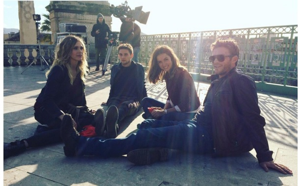 Day 6! Chilling in the sun with the gang! @scotteastwood @gaiaweiss @freddiethorp #Overdrive