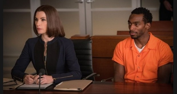 Julianna Margulies and Daniel J. Watts as Clayton Riggs