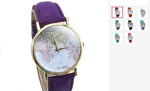 Multicolor Print Bohemia Style PU Leather Band Analog Quartz Wrist Watch
