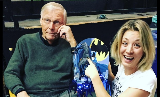 adam west and kaley cuoco