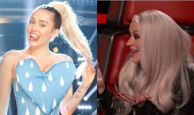 Miley and xtina