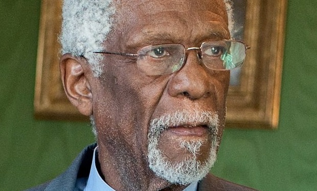 Bill Russell waiting in the Green Room of the White House. He is about to receive the 2010 Presidential Medal of Freedom.