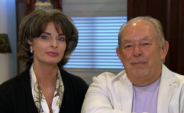 Joan Severance and Robin Leach