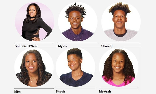 who are shaunie oneals 5 kids on shaunies home court