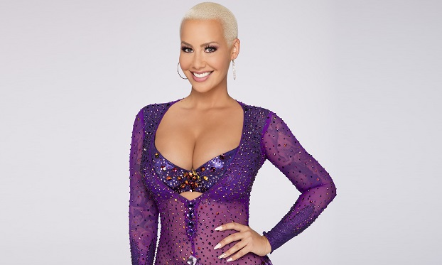 """DANCING WITH THE STARS - AMBER ROSE - The stars grace the ballroom floor for the first time on live national television with their professional partners during the two-hour season premiere of """"Dancing with the Stars,"""" which airs MONDAY, SEPTEMBER 12 (8:00-10:01 p.m., ET) on the ABC Television Network. (ABC/Craig Sjodin)"""