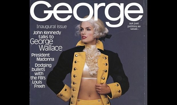 Cover of innaugural issue of ''George'' (Oct/Nov 1995), featuring supermodel Cindy Crawford dressed as George Washington. Source: http://www.powerpolitics.us/press/george_magazine.htm {{magazinecover}}