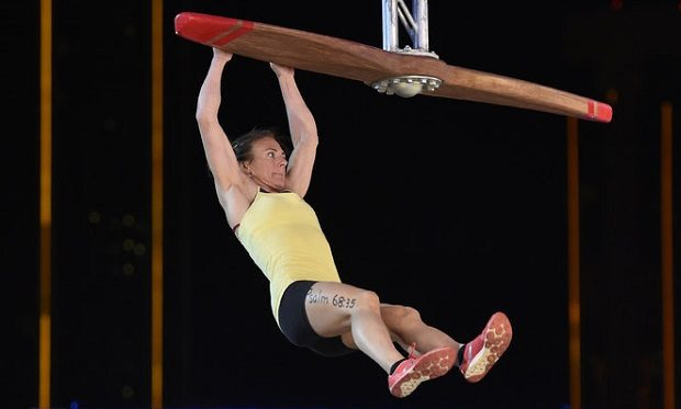 "AMERICAN NINJA WARRIOR -- ""Las Vegas Finals"" -- Pictured: Michelle Warnky -- (Photo by: David Becker/NBC)"