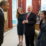 Obama with Samanta Power and Susan Rice