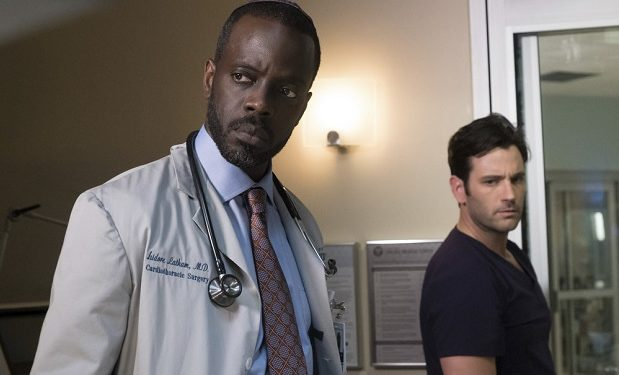 "CHICAGO MED -- ""Soul Care"" Episode 201 -- Pictured: (l-r) Ato Essandoh as Isidore Latham, Colin Donnell as Connor Rhodes -- (Photo by: Elizabeth Sisson/NBC)"