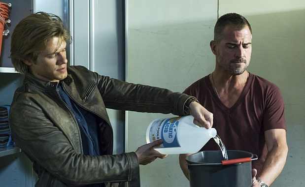 """The Rising"" -- Angus ""Mac"" MacGyver (Lucas Till) and Jack Dalton (George Eads), special agents for the Department of External Services (DXS), join forces to recover a missing bioweapon that has the ability to destroy hundreds of thousands of people with one single drop, on the series premiere of the new drama MACGYVER, Friday, Sept. 23 (8:00-9:00 PM, ET/PT), on the CBS Television Network. Lucas Till, George Eads, Sandrine Holt, Justin Hires and Tristin Mays star. Pictured: Lucas Till, George Eads  Photo: Annette Brown/CBS ©2016 CBS Broadcasting, Inc. All Rights Reserved"