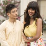 Manny Jacinto as Jianyu, Jameela Jamil as Tehani -- (Photo by: Justin Lubin/NBC