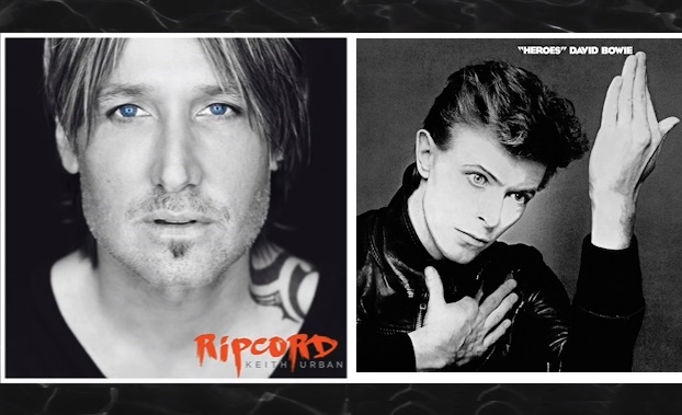 Keith Urban's Ripcord album cover; David Bowie's Heroes album cover