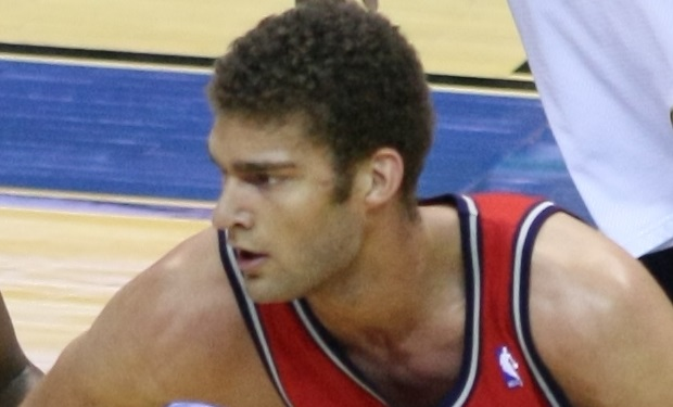 Brook Lopez Washington Wizards v/s New Jersey Nets October 31, 2009 at Verizon Center in Washington, D.C.