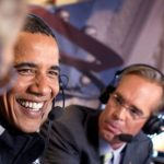 Joe Buck talking with President Obama