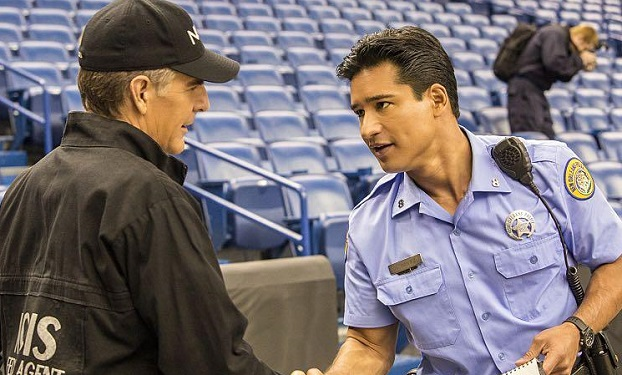 Pictured L-R: Scott Bakula as Special Agent Dwayne Pride and Mario Lopez as NOPD Officer Hernandez Photo: Skip Bolen/CBS