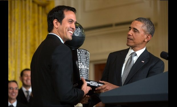 Erik Spoelstra and Barack Obama