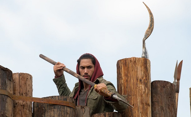 Peter Luis Zimmerman as Eduardo, The Walking Dead, photo by Gene Page/AMC