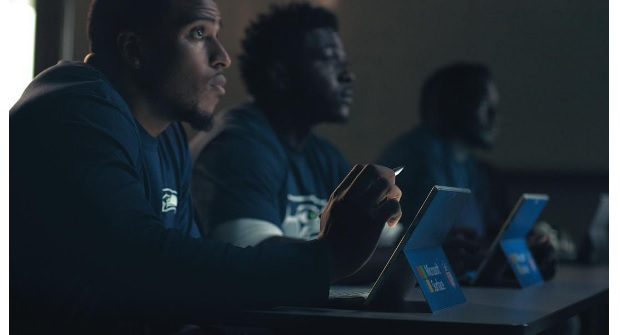 bobby-wagner for Microsoft Surface ad
