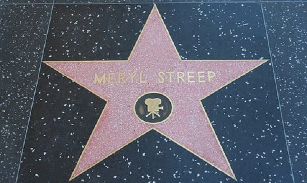 Meryl Streep's Star on Hollywood Boulevard Near Donald Trump's