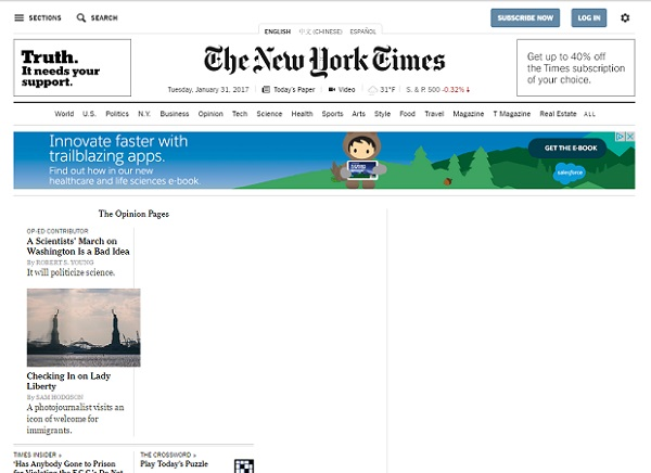 New York Times with Trump Filter