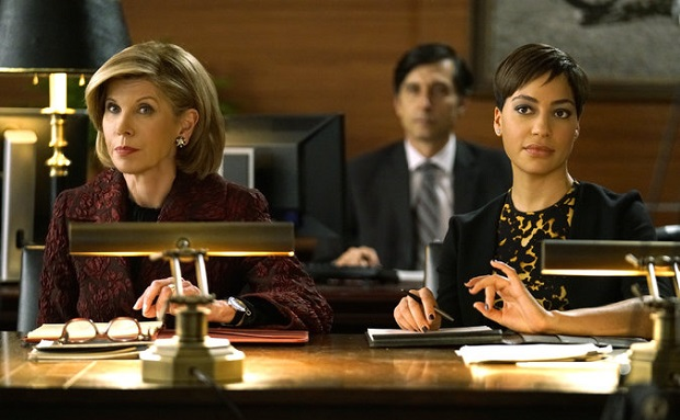 "Christine Baranski, left, and Cush Jumbo in ""The Good Fight,"" a spinoff of ""The Good Wife."" Credit Patrick Harbron/CBS"
