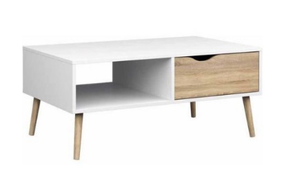 Tvilium coffee table mid century modern white oak 2