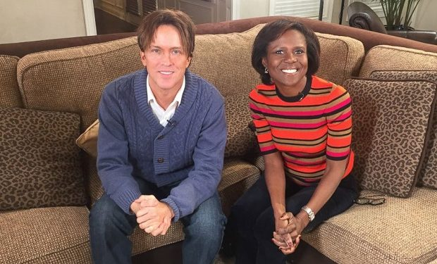 "Larry Birkhead is pictured here with ABC's Deborah Roberts during an interview with ABC News ""20/20."""