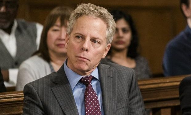 Greg Germann as Counselor Derek Strauss, Alex Hurt as Sam Noles -- (Photo by: Michael Parmelee/NBC)