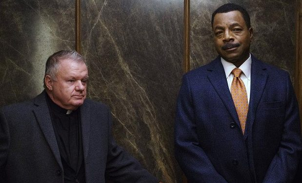 Jack McGee as Priest, Carl Weathers as Mark Jefferies -- (Photo by: Parrish Lewis/NBC)