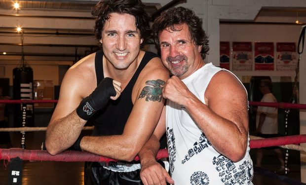 Justin_Trudeau_and_Pat_Fiacco boxing gym