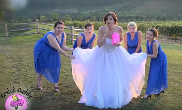 Shark tank bridal buddy youtube video viewed 2 million for Shark tank wedding dress