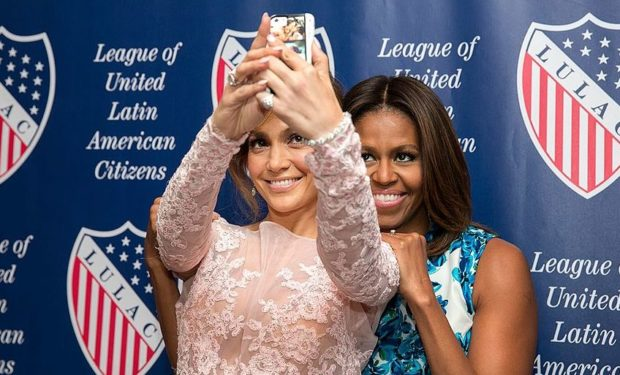 JLo with Michelle Obama