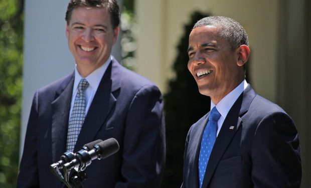 Comey and Obama in 2013