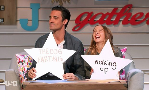 Gilles Marini and Juliana on Big Star Little Star USA
