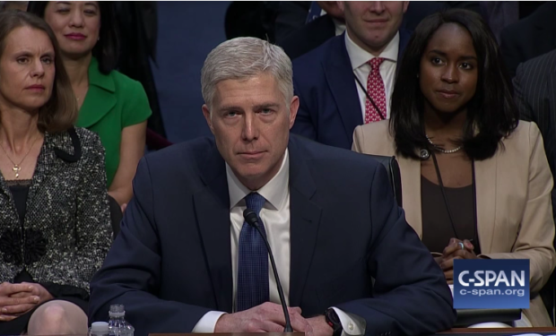 Gorsuch interpretation of law displayed in first case