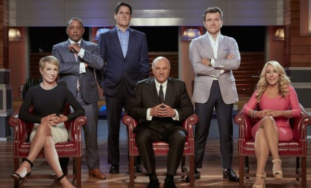"SHARK TANK - Barbara Corcoran, Daymond John, Mark Cuban, Kevin O'Leary, Robert Herjavec and Lori Greiner are the ""Sharks"" on ABC's ""Shark Tank."" (ABC/Patrick Ecclesine)"