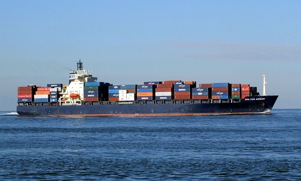 Cargo ship approaching Holland
