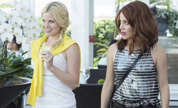 . Still of Alanna Ubach and Megan Hilty in Girlfriends' Guide to Divorce, photo: Bravo