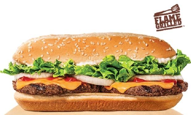 Extra Long Cheeseburger from Burger King