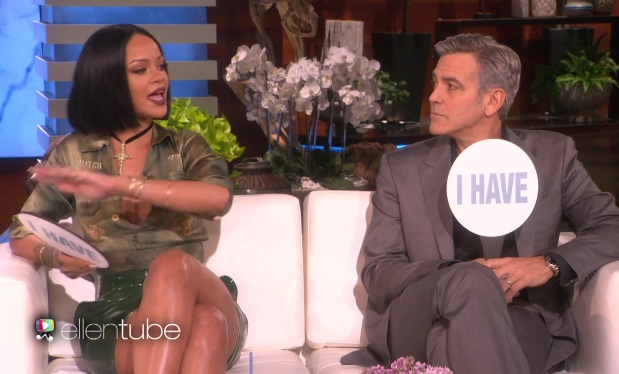 Rihanna and George Clooney on EllenTube