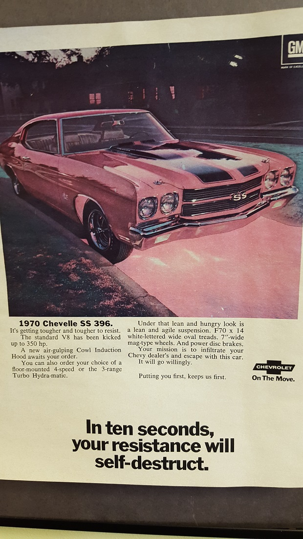 Chevy Shakespeare 1970 Chevelle SS 396