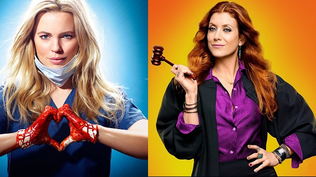 Melissa George in Heartbeat; Kate Walsh in Bad Judge (both NBC)