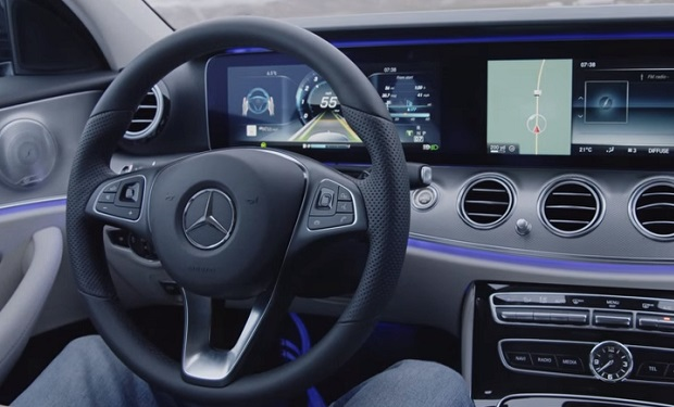 Mercedes assisted-driving vehicle