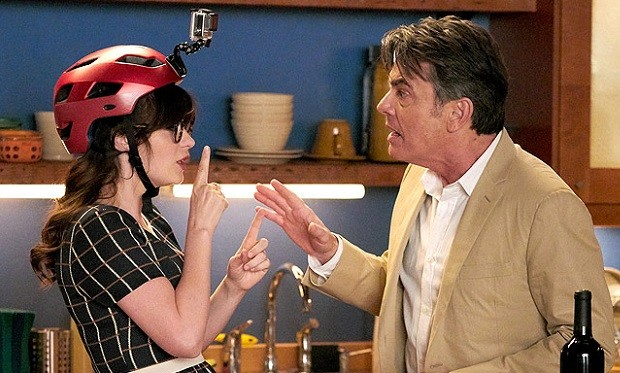 Zooey Deschanel Peter Gallagher New Girl, photo Adam Taylor FOX