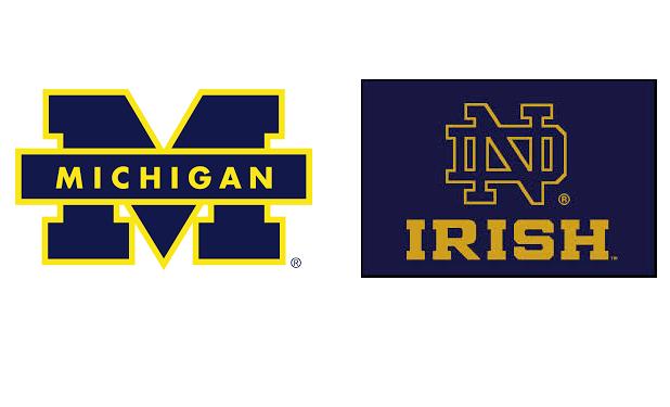 Michigan Notre Dame logos