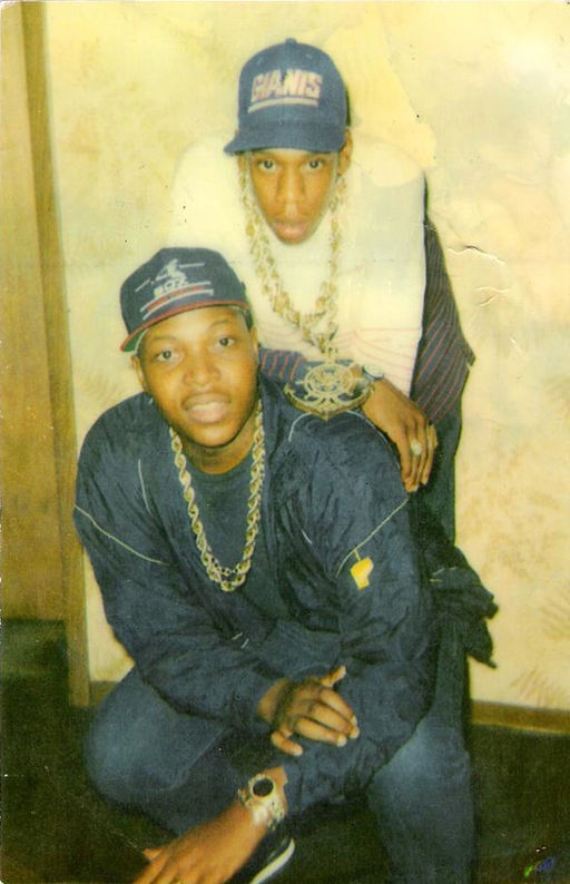 Jay-Z in his early days as a hustler in the streets of Trenton