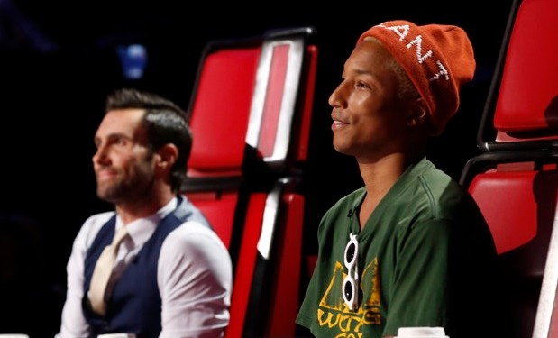 Adam levine and Pharrell