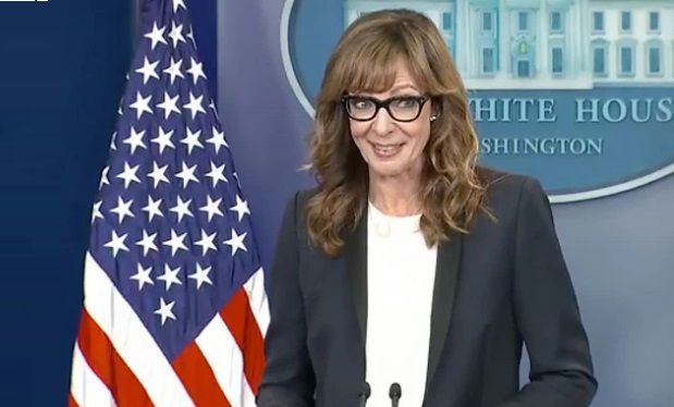 Allison Janney at the White House